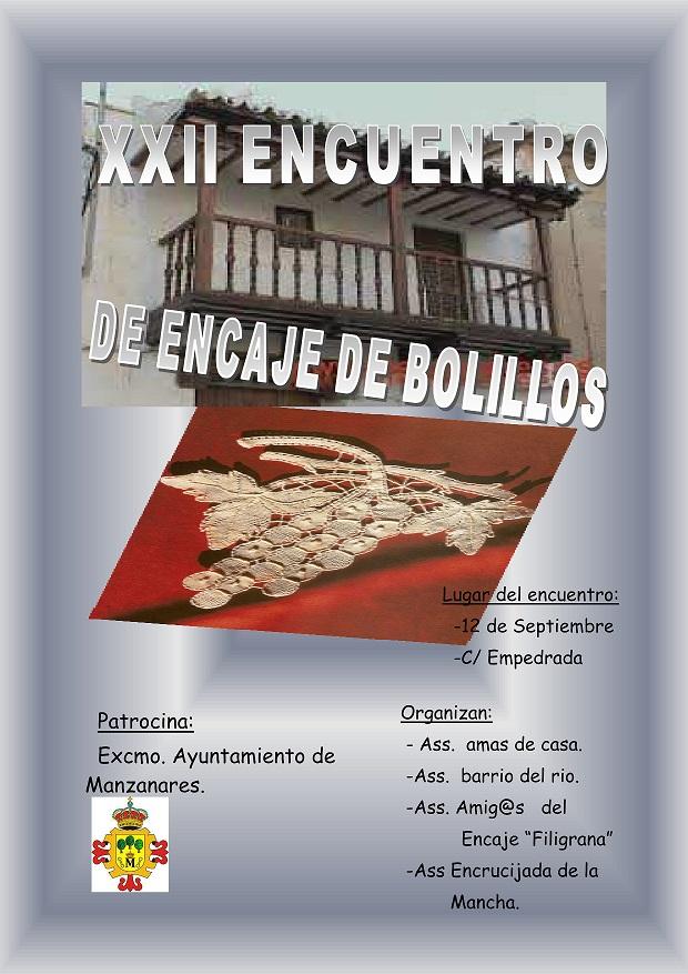 El tradicional Encuentro de Encaje de Bolillos será el 12 de septiembre