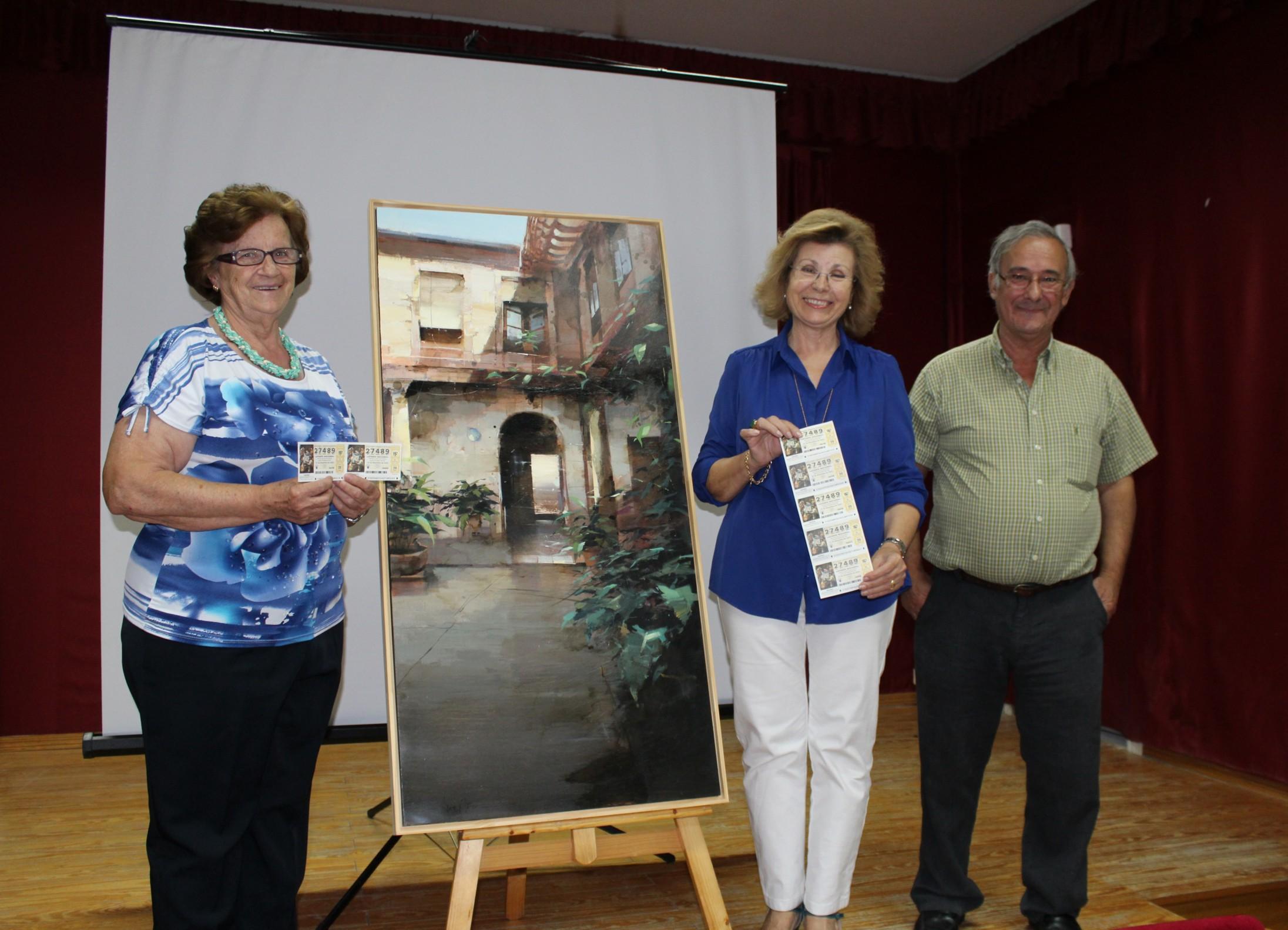 La Asociación Arteaga Alfaro hace entrega del cuadro ganador del Certamen de Pintura Rápida en la Asamblea Anual de Socios
