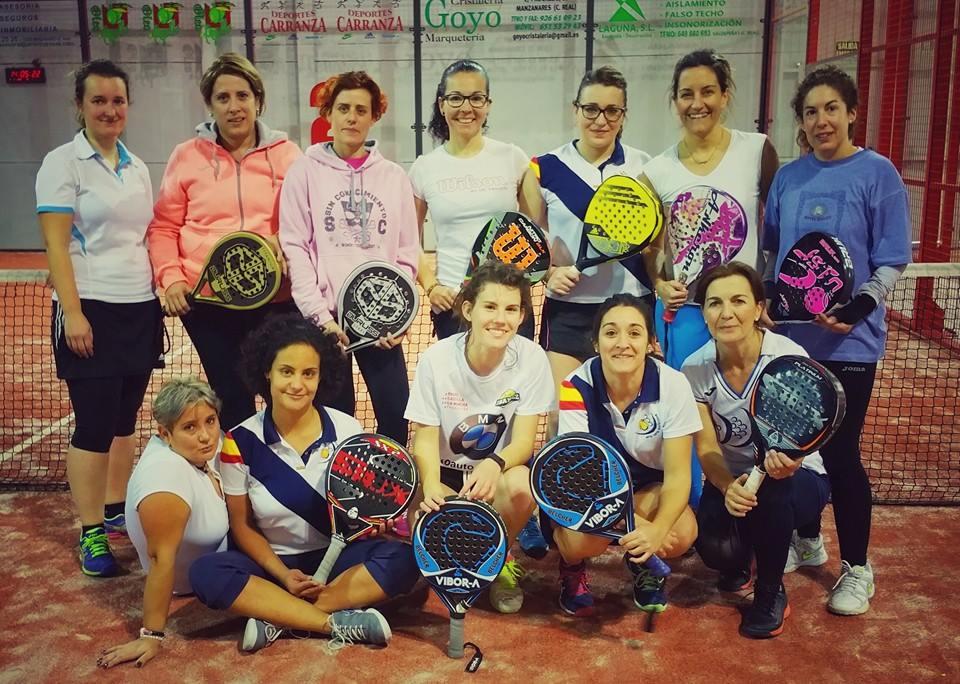 Americano del equipo de competición femenino del Club de Pádel Membrilla-Manzanares