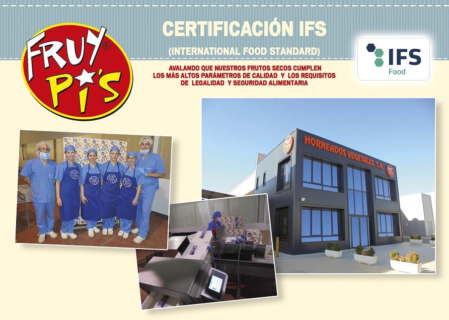 Horneados Vegetales S.A obtuvo el pasado 19 de Mayo la Certificación en IFS (International Food Standard)