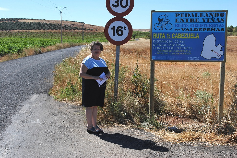 Valdepeñas comienza a crear sus primeras rutas cicloturistas