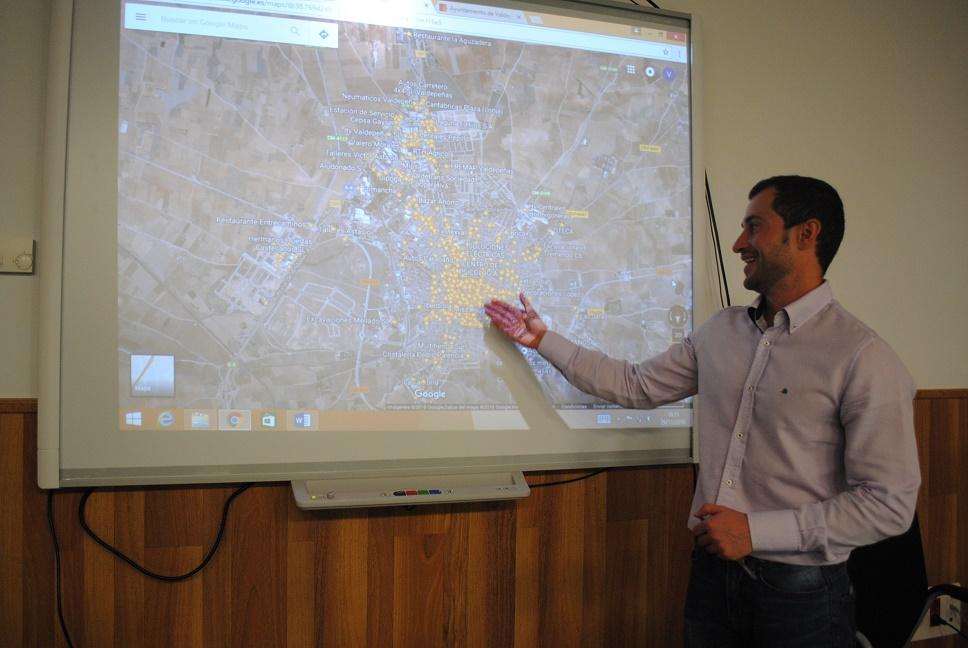 La Concejalía de Desarrollo Empresarial ubica en Google Maps a 1.294 empresas de Valdepeñas