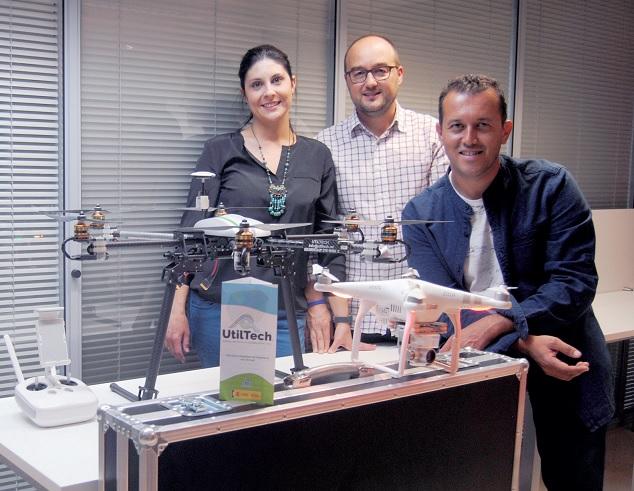 Gema Catena, David Ruiz y Demetrio Prado. Fundadores de UtilTech, la tecnología útil de precisión