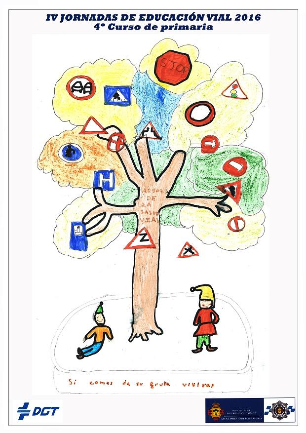 """V Concurso Local de Dibujo sobre """"Educación Vial"""" de Manzanares"""