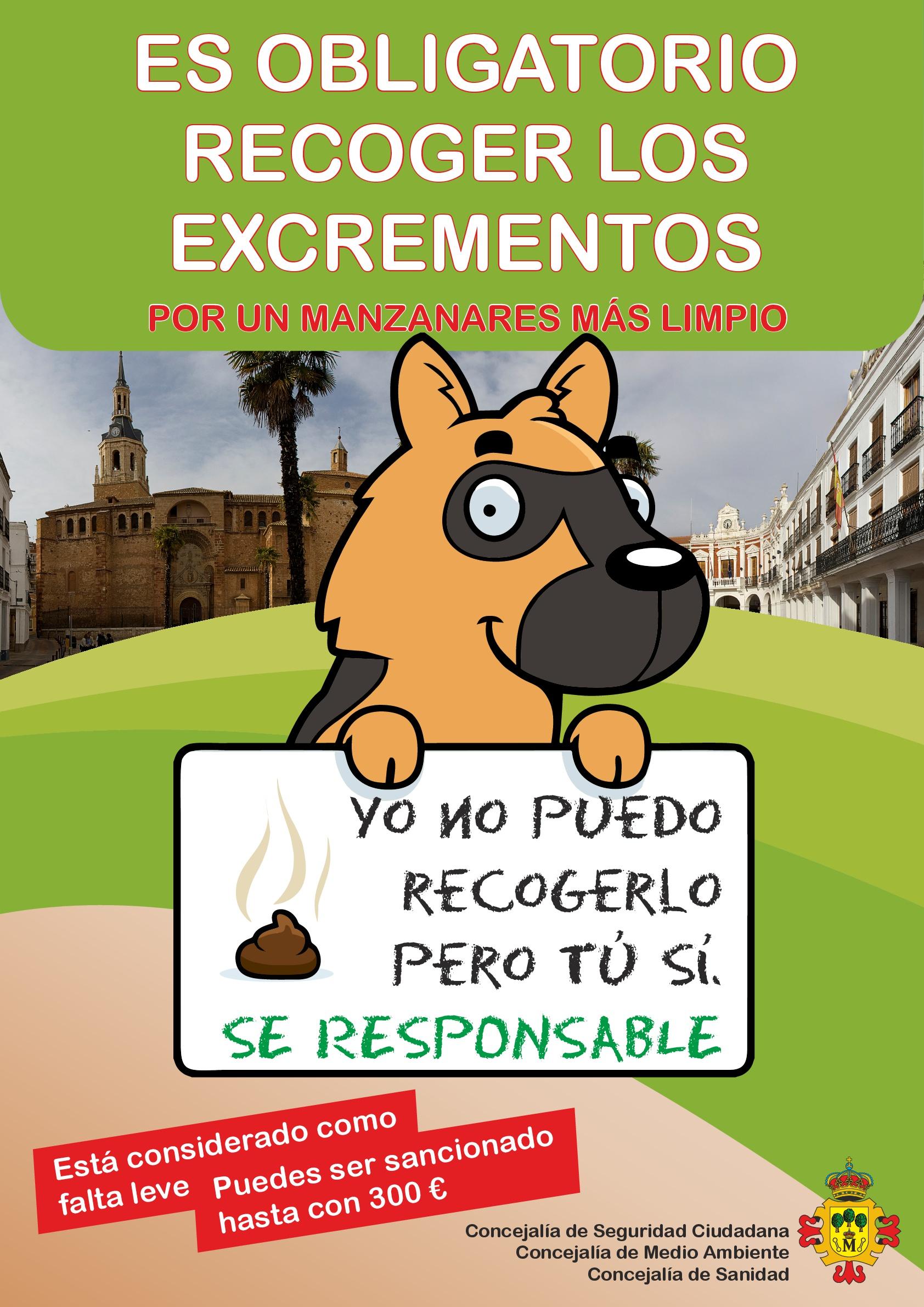 Campaña de concienciación e información sobre la obligación de recoger los excrementos de mascotas