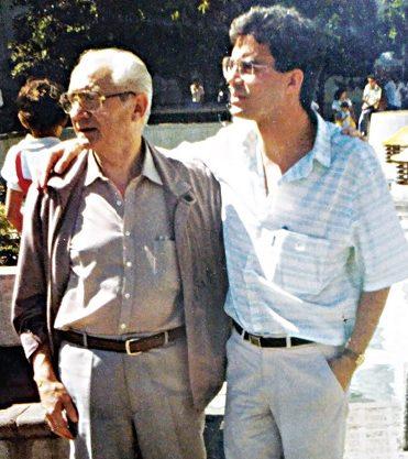 Juan José Serrano junto a su hijo Juan Bautista