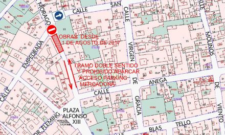 Inicio de obras de semipeatonalización en la zona de calle Morago