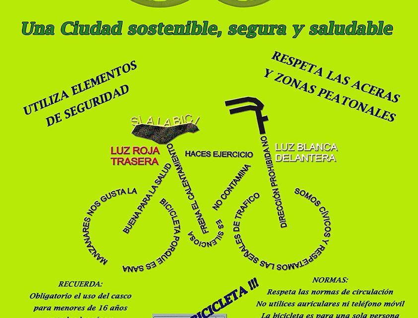 """La Concejalía de Tráfico lanza la campaña """"Manzanares sobre ruedas"""" para animar al uso seguro de la bicicleta"""