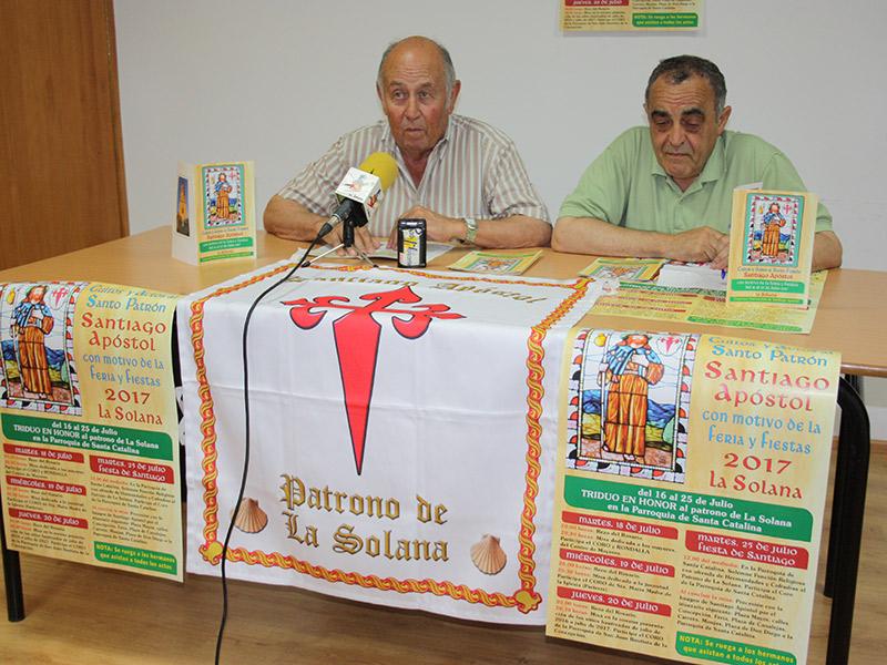 La Hermandad de Santiago presentó los actos en torno al patrón de La Solana
