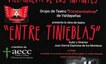 El grupo de Teatro 'Entrebambalinas' de Valdepeñas llega el sábado a Villanueva de los Infantes con la obra 'Entre Tinieblas' a beneficio de AECC