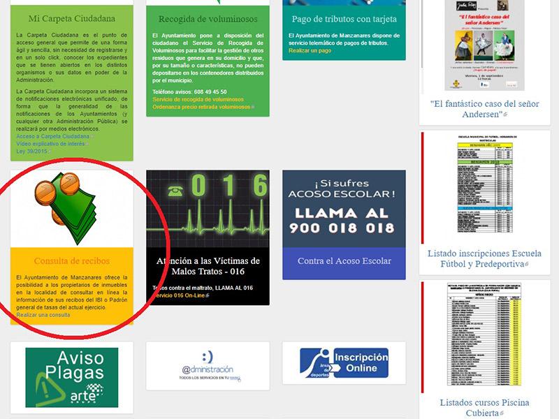 Las liquidaciones tributarias ya se pueden consultar en la web municipal