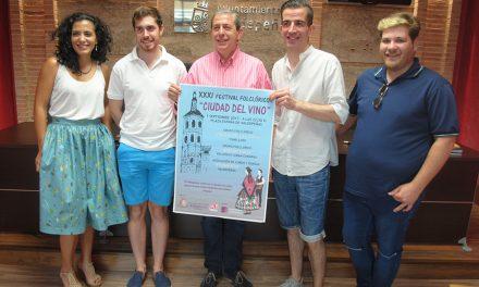 Las Fiestas del Vino contarán este año con el tradicional XXXI Festival Folclórico 'Ciudad del Vino'