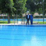 Todo listo en la piscina de verano para iniciar la temporada el lunes