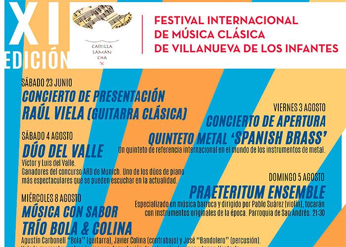 Infantes se prepara para el XI Festival Internacional de Música Clásica, con los mejores solistas y grupos de ámbito nacional y europeo