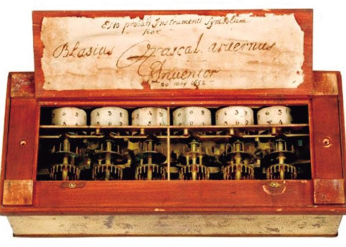 El invento de la calculadora 'Pascalina'