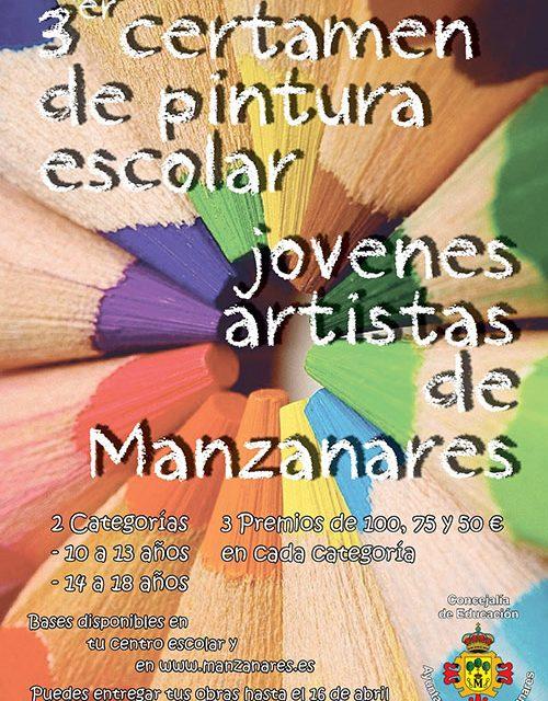 Convocado el III certamen de pintura escolar 'Jóvenes de Manzanares'