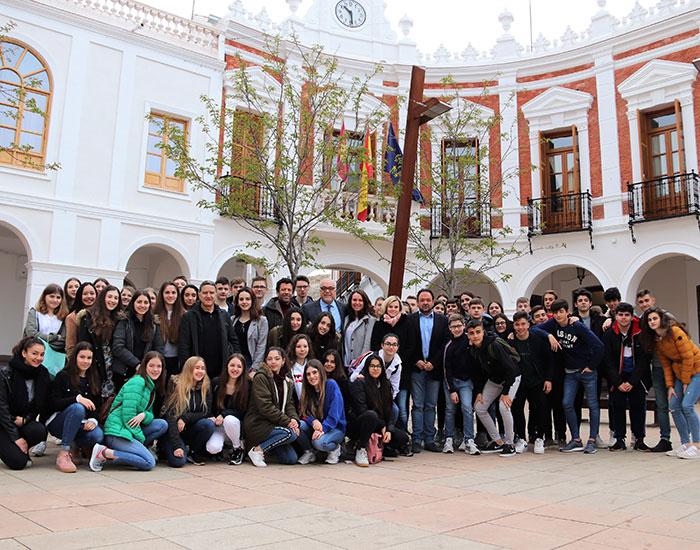 Alumnado alemán de Wuppertal, de intercambio en el IES 'Sotomayor'