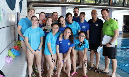 Manzanares fue sede de una competición provincial de natación de deporte base