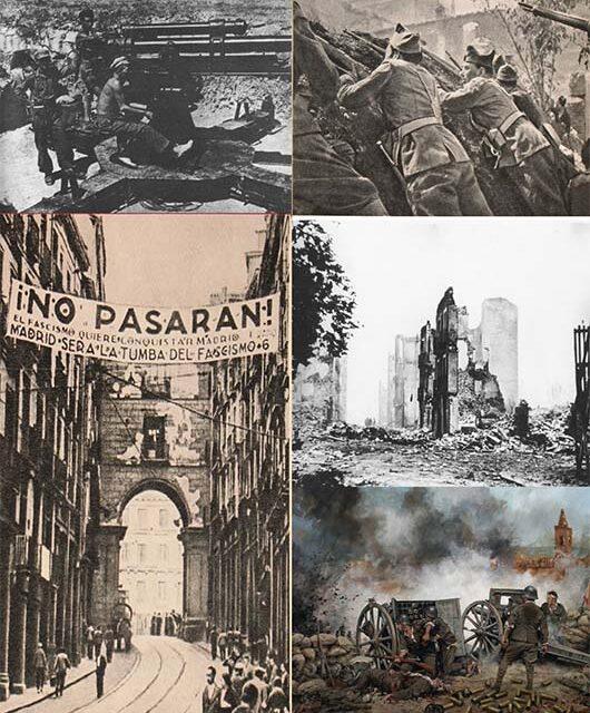La sublevación militar, desarrollo de la Guerra Civil e internacionalización del conflicto