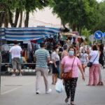 Comerciantes y usuarios aplauden la nueva ubicación del mercadillo de La Solana