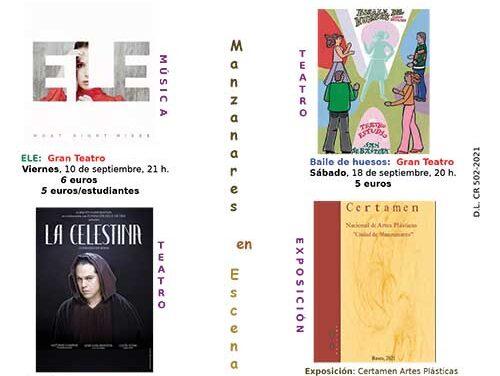 Teatro, música y artes plásticas protagonizan la programación cultural de septiembre